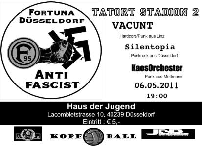 Flyer Konzert Tatort Stadion Düsseldorf